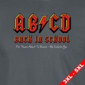 AB/CD For Those About to Read Ac/Dc Spoof ParodyT-Shirt- 3XL to 5XL