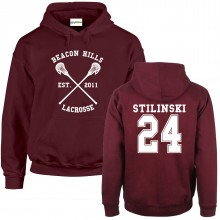 Beacon Hills Lacrosse HOODIE Unisex Teen Wolf Choice of Names & Numbers up to XXL