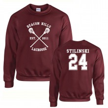 Beacon Hills Lacrosse SWEATSHIRT Unisex Teen Wolf Choice of Names & Numbers up to XXL