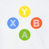 Xbox 360 Controller Buttons Symbols X Y B A Gaming Gamer Video Game T-shirt 16 Colours - to 2XL