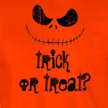 Nightmare Before Halloween Trick Or Treat Smiling Jack Unisex T Shirt S-2XL