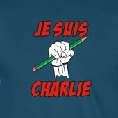 Je Suis Charlie Supporting Free Speech Human Rights Green Pencil Cartoon T-Shirt