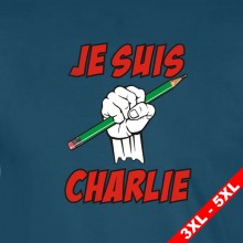Je Suis Charlie Green Pencil Cartoon T-Shirt 3XL-5XL