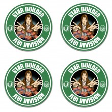 Star wars builder bricklayer inspired jedi division style coasters
