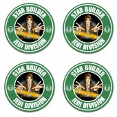 Star Builder Spirit Level Wars Jedi Division Durable Washable Gift Coaster Dad
