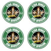 Star joiner inspired jedi division style coasters