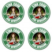 Star cook chef inspired jedi division style coasters