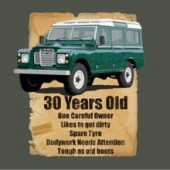 Land Rover Car Advert Birthday Tee - 3XL to 5XL