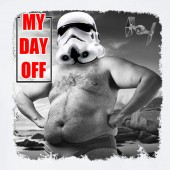 My day Off Storm Trooper Beach 3 Funny Star Wars Inspired T-shirt 16 Colours - to 2XL