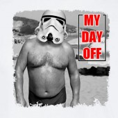 My day Off Storm Trooper Beach Funny Star Wars Inspired T-shirt 16 Colours - to 2XL