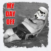 My day Off Storm Trooper Beach 4 Funny Star Wars Inspired T-shirt 16 Colours - to 2XL