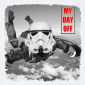 My day Off Storm Trooper Skydiving Funny Star Wars Inspired T-shirt 16 Colours - to 2XL