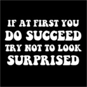 If At First You DO Succeed - Funny T-Shirt