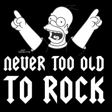 Homer Simpson Never Too Old to Rock Personalized Birthday T-Shirt