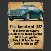Aston Martin DB4 Advert Ladies Birthday T-Shirt