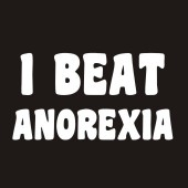 I Beat Anorexia Funny Ladies T-Shirt