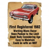 Ford Capri Advert Ladies Birthday T-Shirt