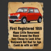 Mini Cooper Advert Ladies Birthday T-Shirt